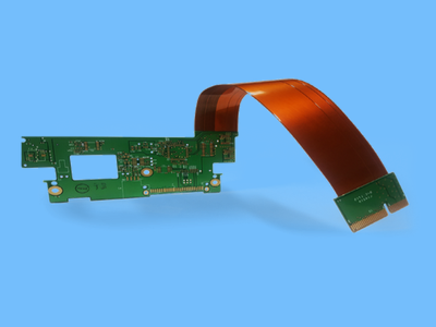 flexible board on blue background