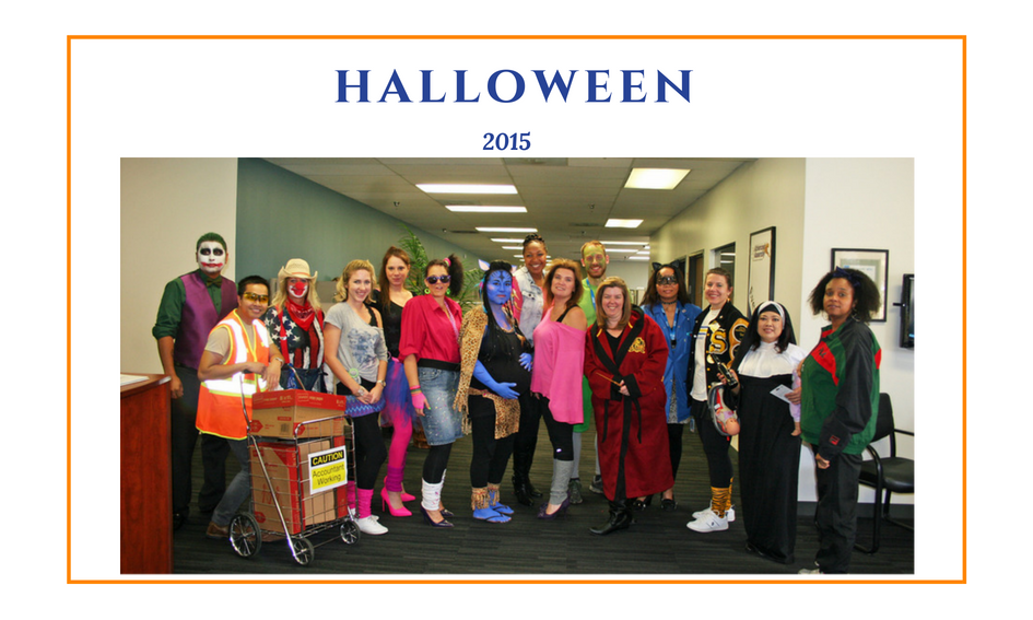 Advanced Assembly employees dressed in Halloween costumes