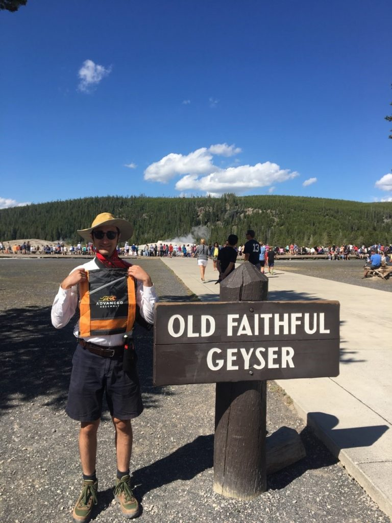At Old Faithful Geyser - Yellowstone National Park