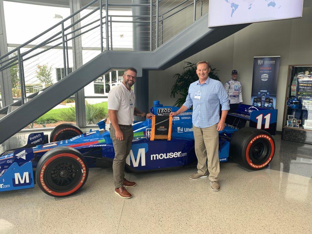 Admiring Mouser's IndyCar - Dallas, TX